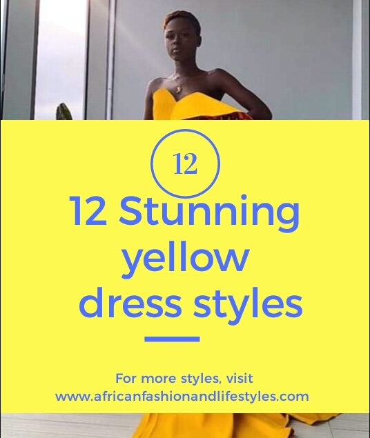 Stunning yellow dress styles; Yellow is the new black! 2