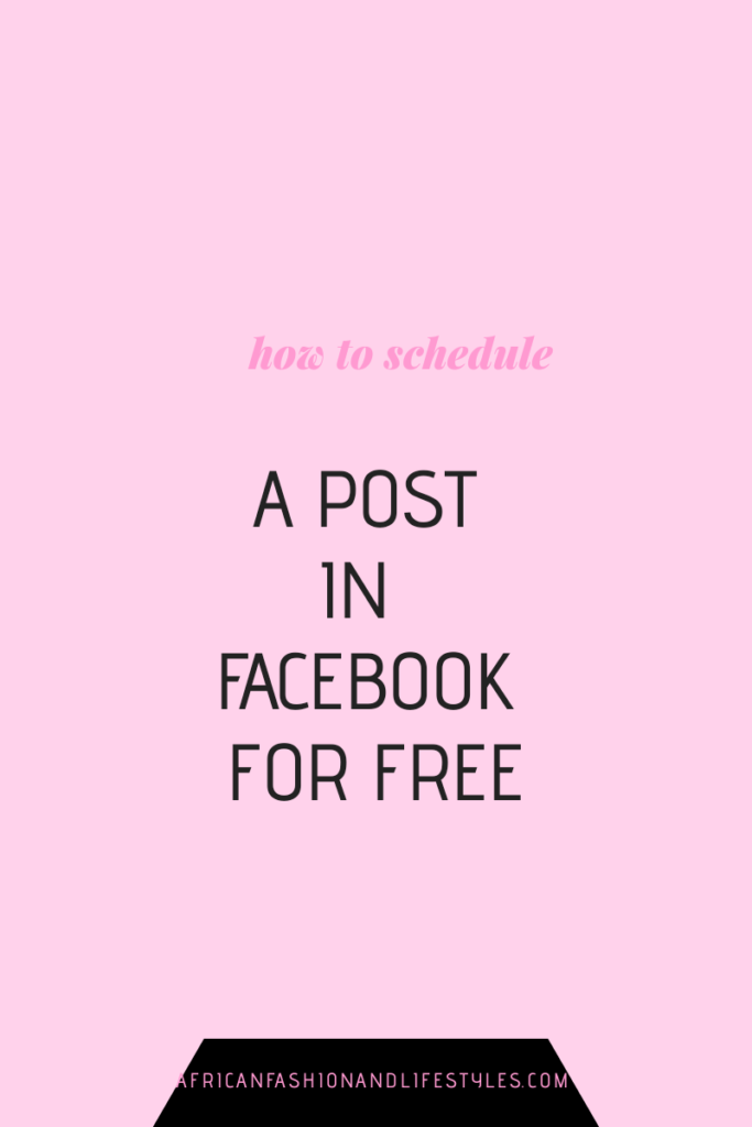 HOW TO SCHEDULE A POST IN FACEBOOK FOR FREE 2