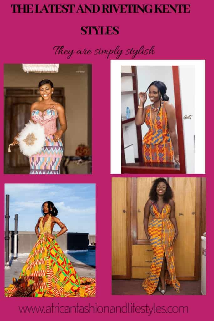 15+ LATEST AND RIVETING KENTE STYLES