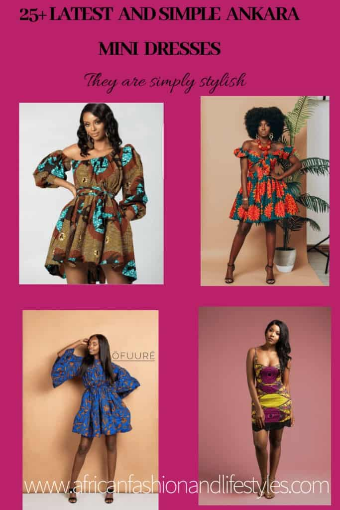 25+ SIMPLE ANKARA MINI DRESSES