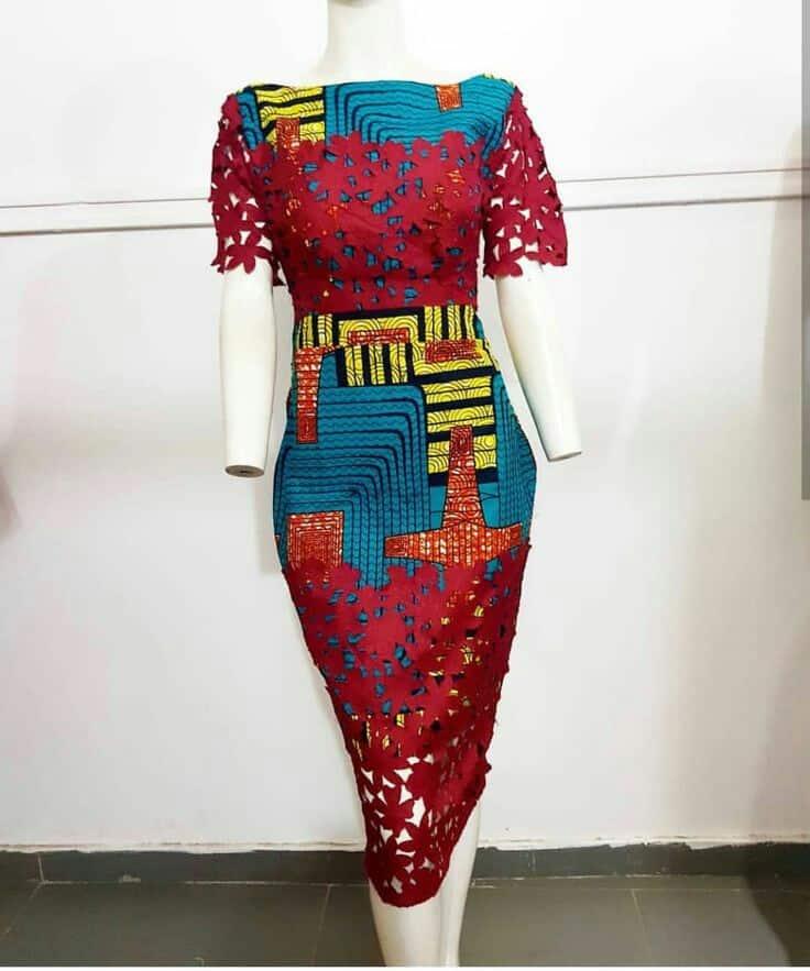 20 AWESOME ANKARA LACE DRESS STYLES 2019 4