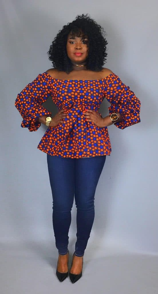 Plus size african print top style