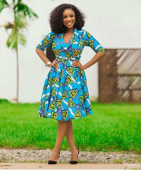 Wrap african print dress style