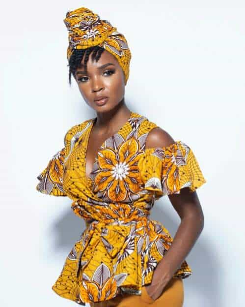 Cold shoulder african print dress style