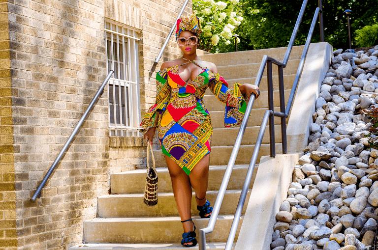 Dashiki print dress style