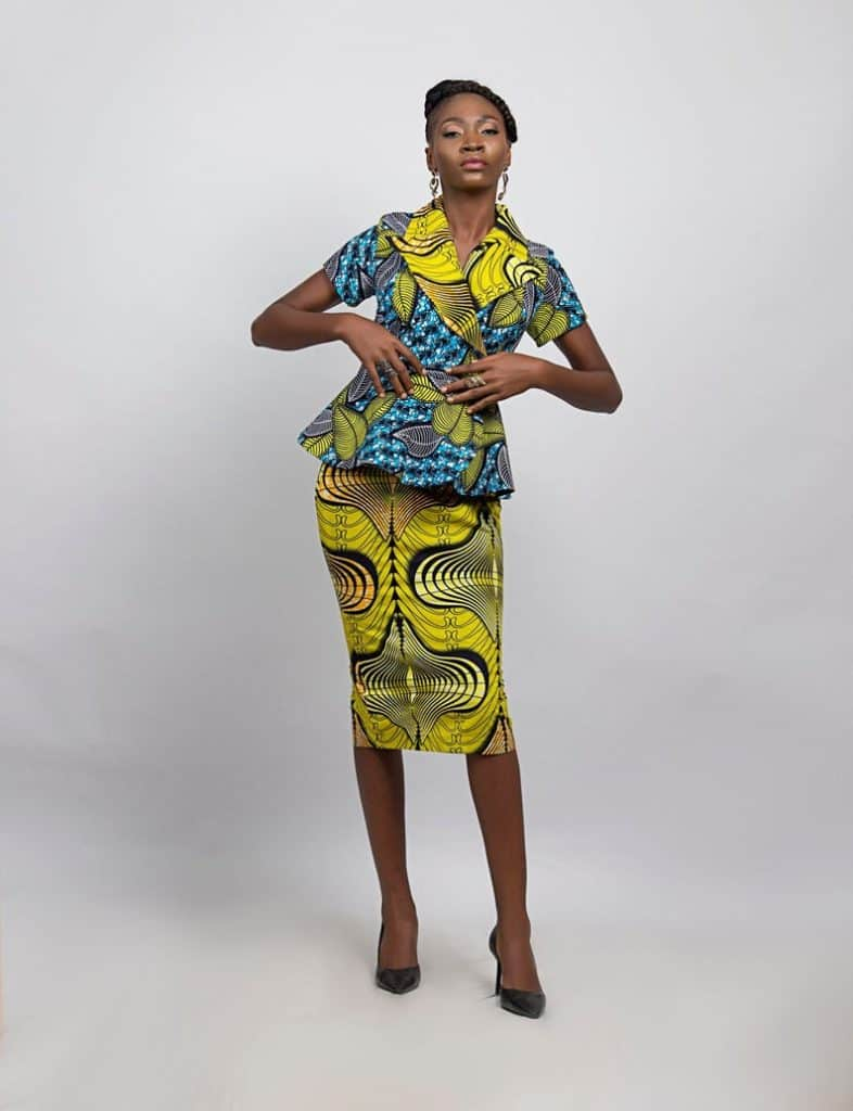 African print skirt and top