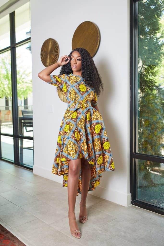 African print dress