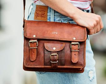 Leather bag small for women