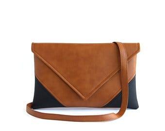 Vegan crossbody leather bag small