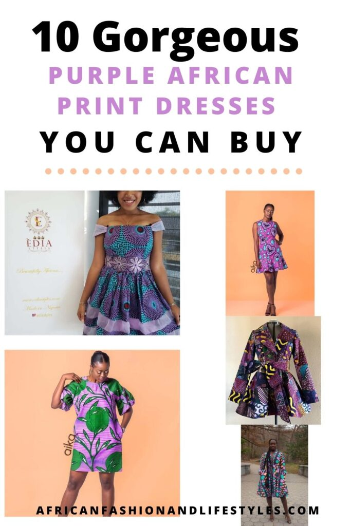 Purple African dress