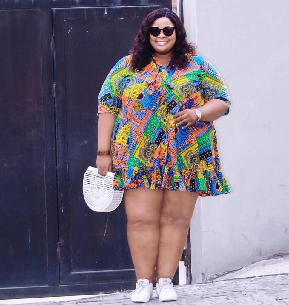 African print plus size style