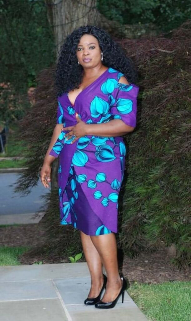Purple african prom dress