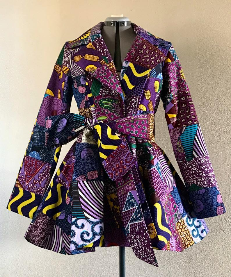 Purple african dress jacket