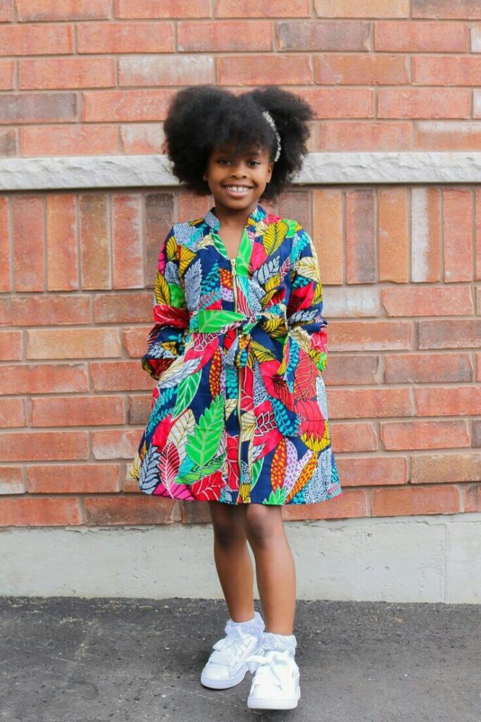 Latest Ankara style for girl child
