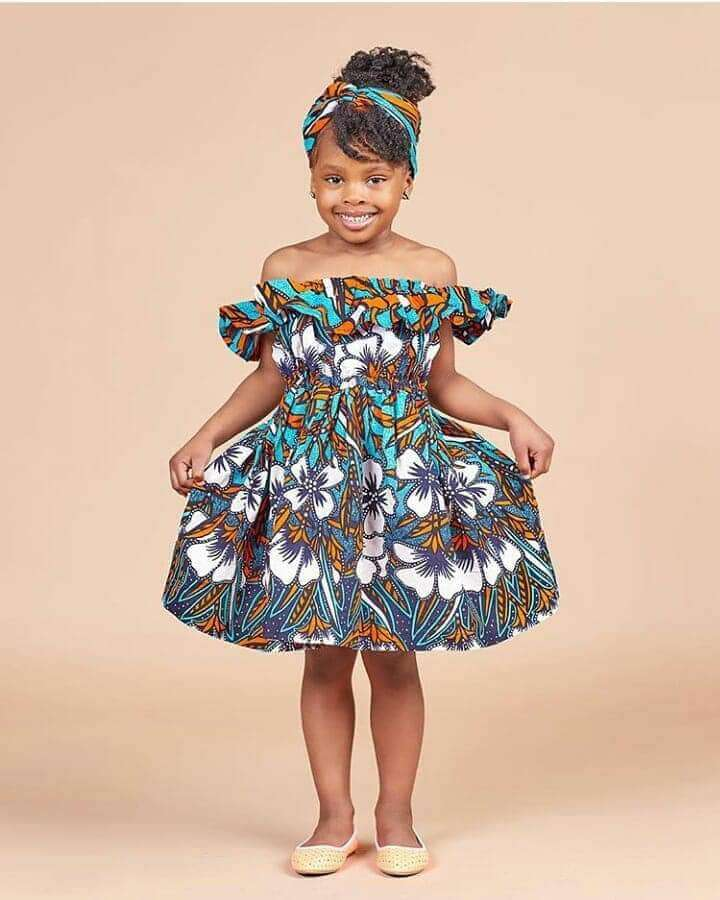 Ankara style for girl kid