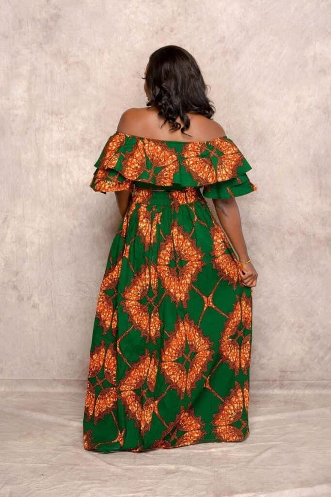 Ankara maxi skirt and crop top